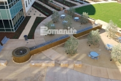 From forming the walls, sourcing the hard to locate epoxy coated rebar, to pouring the Bomanite smooth-troweled, integrally colored concrete, our colleague Heritage Bomanite took pride in creating this therapeutic fountain outside of the Clovis Community Medical Center.