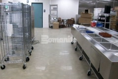 Premier Concrete Construction used the Bomanite Belcolore Custom Polishing System in conjunction with Bomanite Color Hardeners to create a decorative concrete floor in the Cheshire County Jail kitchen space that offers superior abrasion resistance and locks down the color beneath an impenetrable shine.