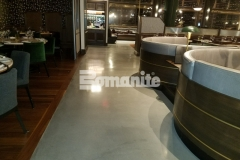 Our colleague, Beyond Concrete, skillfully installed Bomanite Modena SL custom polished concrete to create the interior flooring at Angeline by Michael Symon, and the sleek, contemporary design complements the aesthetic throughout the dining establishment.
