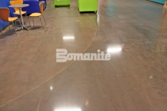 The Bomanite Patene Teres Custom Polishing System was expertly installed here by our associate, Texas Bomanite, to create distinctively beautiful decorative concrete flooring that adds warmth and character to this church space while providing a durable surface that will hold up to the heavy foot traffic.