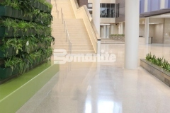 The Bomanite Renaissance Deep Grind process is perfect to provide a high-end, customizable decorative concrete surface that will wear naturally as the fully exposed hard aggregates are the predominate wear surface.