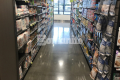 We installed the newly finished flooring inside Brothers Marketplace in Waltham, MA using the Bomanite VitraFlor Custom Polishing System and this sustainable polished concrete was an ideal choice for accommodating patrons and equipment while providing durability, minimal maintenance requirements, and long-term sustainability.