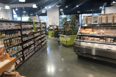 We installed approximately 12,000 SF of Bomanite VitraFlor custom polished concrete at Brothers Marketplace with Class B exposure and a Level 3 polish, which created a fine aggregate finish and a medium-high sheen level that is beautiful and durable and does not require extensive maintenance procedures like traditional flooring finishes.