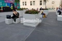Bomanite presented the 2018 Bronze Award to our associate, Beyond Concrete, for Best Bomanite Exposed Aggregate Project for their expert installation of Bomanite Alloy decorative concrete at Two World Trade Center where they create a variegated effect, that when combined with the exposure of the fine reflective aggregates, created a stunning street design.