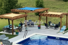 This beautiful backyard retreat features Bomanite Revealed decorative concrete that received a light etching and was treated using a penetrating silicon sealer – this added layer of protection and enhanced water repellence ensures that this low-maintenance surface will hold up to many years of fun and relaxation.