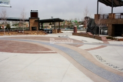 Bomanite Imprint Systems were the perfect choice to provide a hardscape surface with durability that stands up to the toughest traffic loads and environmental conditions and this Bomacron Slate Texture stamped concrete adds a unique architectural touch to this beautiful display of decorative concrete.