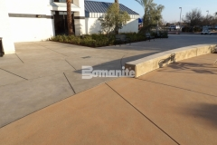 This Bomanite Sandscape Texture decorative concrete was expertly designed and installed to create a seamless blend between the hardscape surface and the surrounding architectural features in this church courtyard.