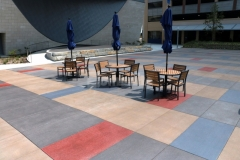 I love the vibrant color that was incorporated into this hardscape using Bomanite Sandscape Texture decorative concrete with Bomanite Con-Color because the stain pattern adds beautiful, unique detail that is visually appealing.