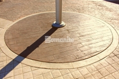 The Texas-themed aesthetic at the Tanger Outlets Fort Worth was carried over onto the hardscape surfaces when Texas Bomanite was called in to install over 145,000 SF of architectural concrete that they stamped with four different Bomanite Bomacron patterns to add unique interest and ambiance to the outdoor walkways.