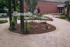 The Dr. Sanford and Lois Benjamin Healing Garden was beautifully enhanced using Bomanite Imprint Systems and landscape architecture by BlocDesign to create a healing garden that was designed to aid healing of body and spirit for patients, visitors, and staff at CMC Mercy Hospital.