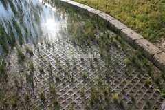 Grasscrete by Bomanite was chosen for this site to create a partially concealed pervious concrete structure that provides a proper drainage solution while maintaining a natural aesthetic.